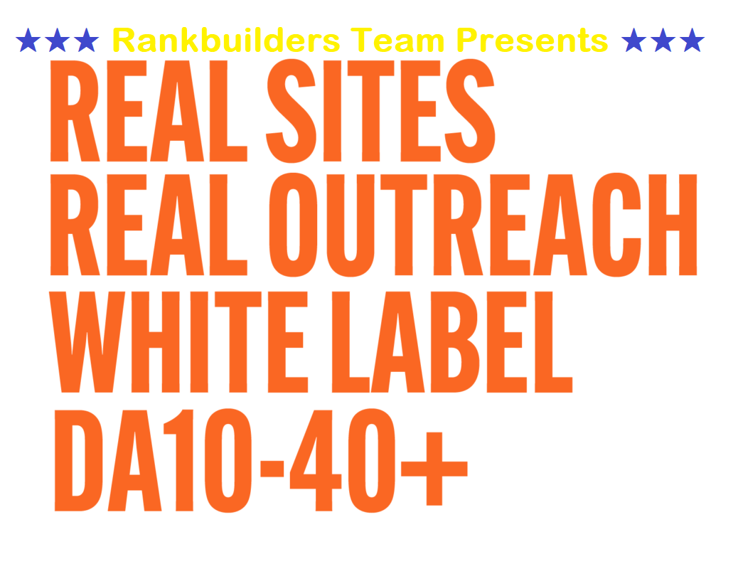 Outreach Backlinks On Genuine Websites Real Curated Link Niche Edits DA 20 - 40 for TOP Rankings