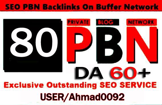 Get 80 High DA 60+ Permanent homepage pbn Backlinks