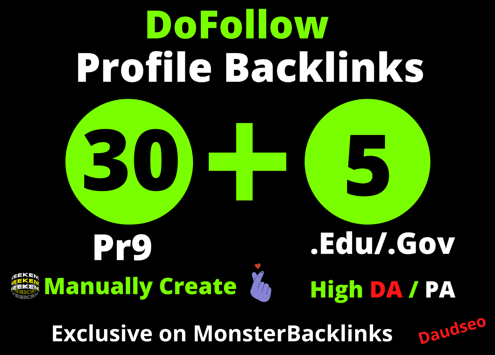 I will Create 30 Pr9 + 5 Edu/Gov Dofollow DA 90+ SEO profile backlinks