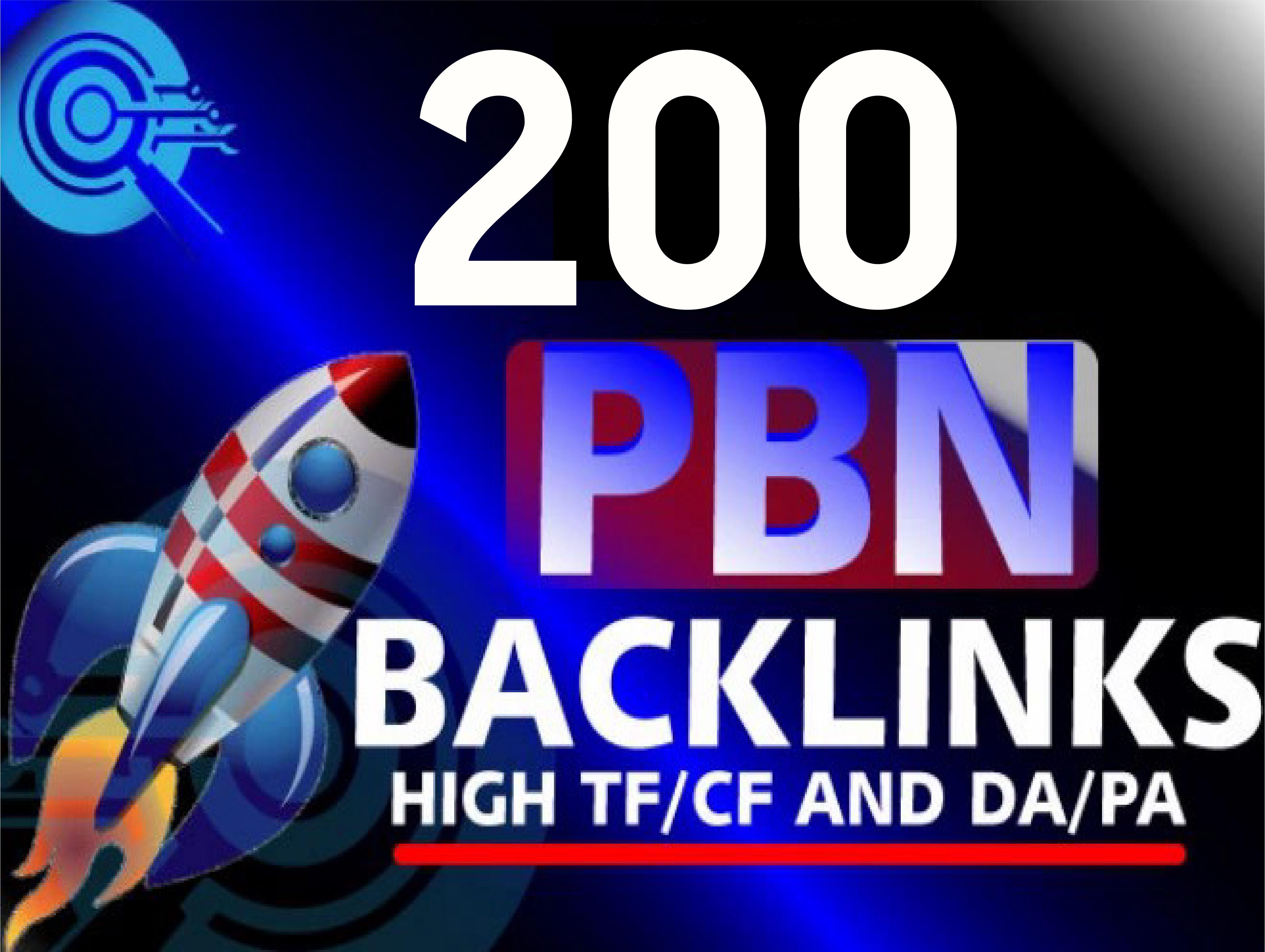 Create 200 Permanent High DA PA Contextual PBN Backlinks For Your Website
