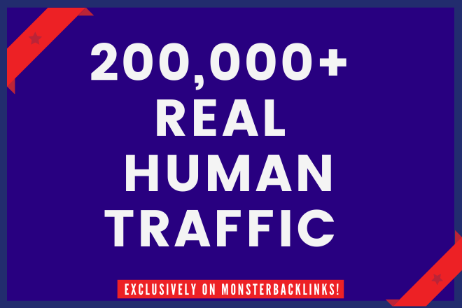 Send 200,000+ Real Human traffic from Google,  yahoo etc