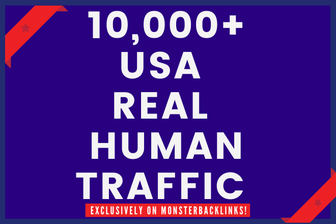 Send 10,000+ Real Human Traffic from USA