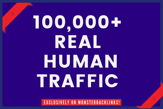 Send 100,000+ Real Human traffic from Google,  yahoo etc