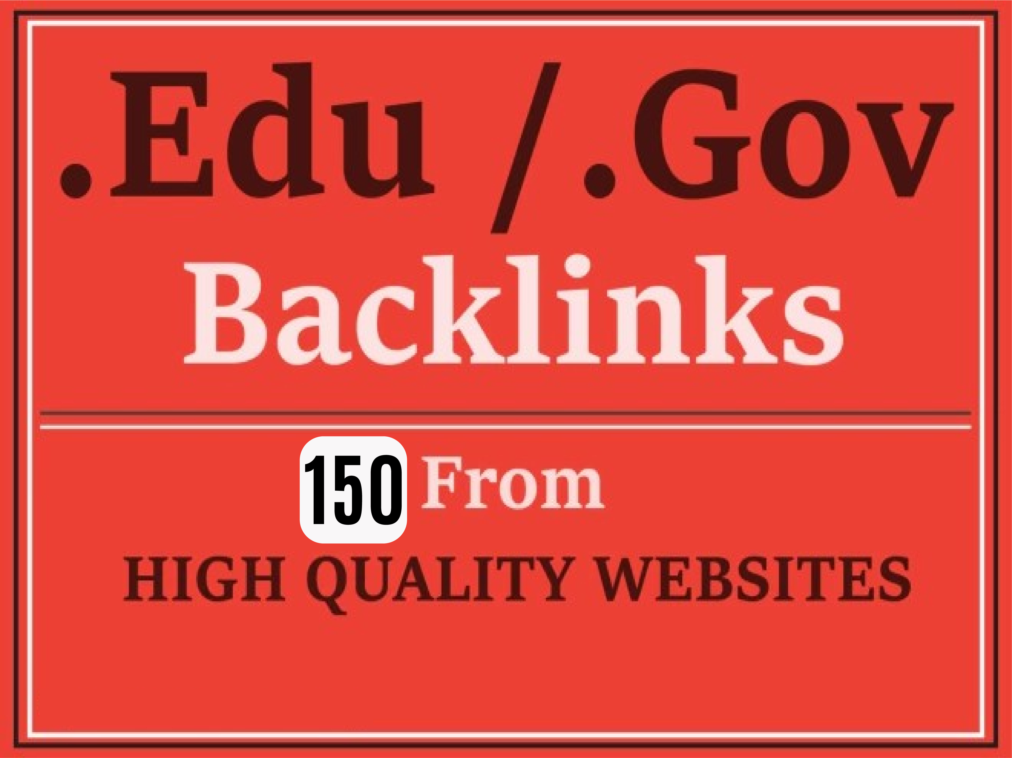 Manually Create 150 EDU and GOV SEO backlinks For Boost SEO Ranking