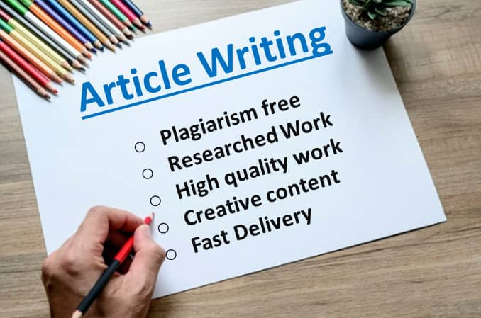 Write 1000 Words High Quality ARTICLE,  BLOGs writing or WEBSITE content writing on any subject for
