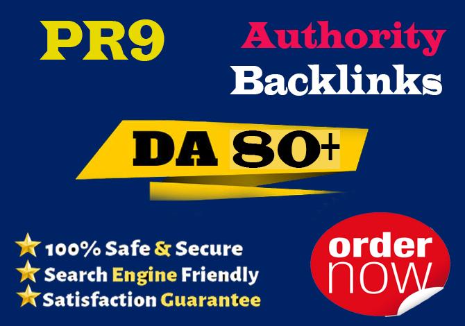 I will create 30 powerful da 80 anchor text high authority backlinks