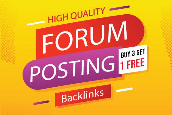 manually 40 Forum Posting SEO Backlinks for Google Ranking