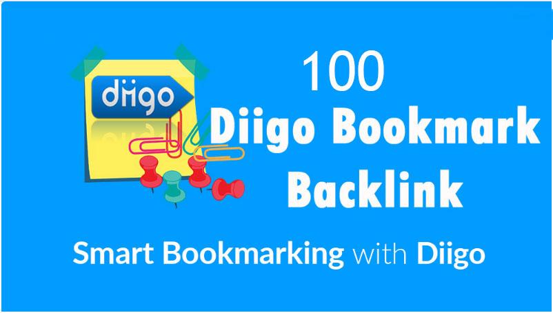 I will Create Diigo High Quality 100 Bookmark backlink PR8-9 Google 1