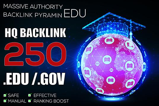 Create 250 EDU GOV Backlinks for your websites
