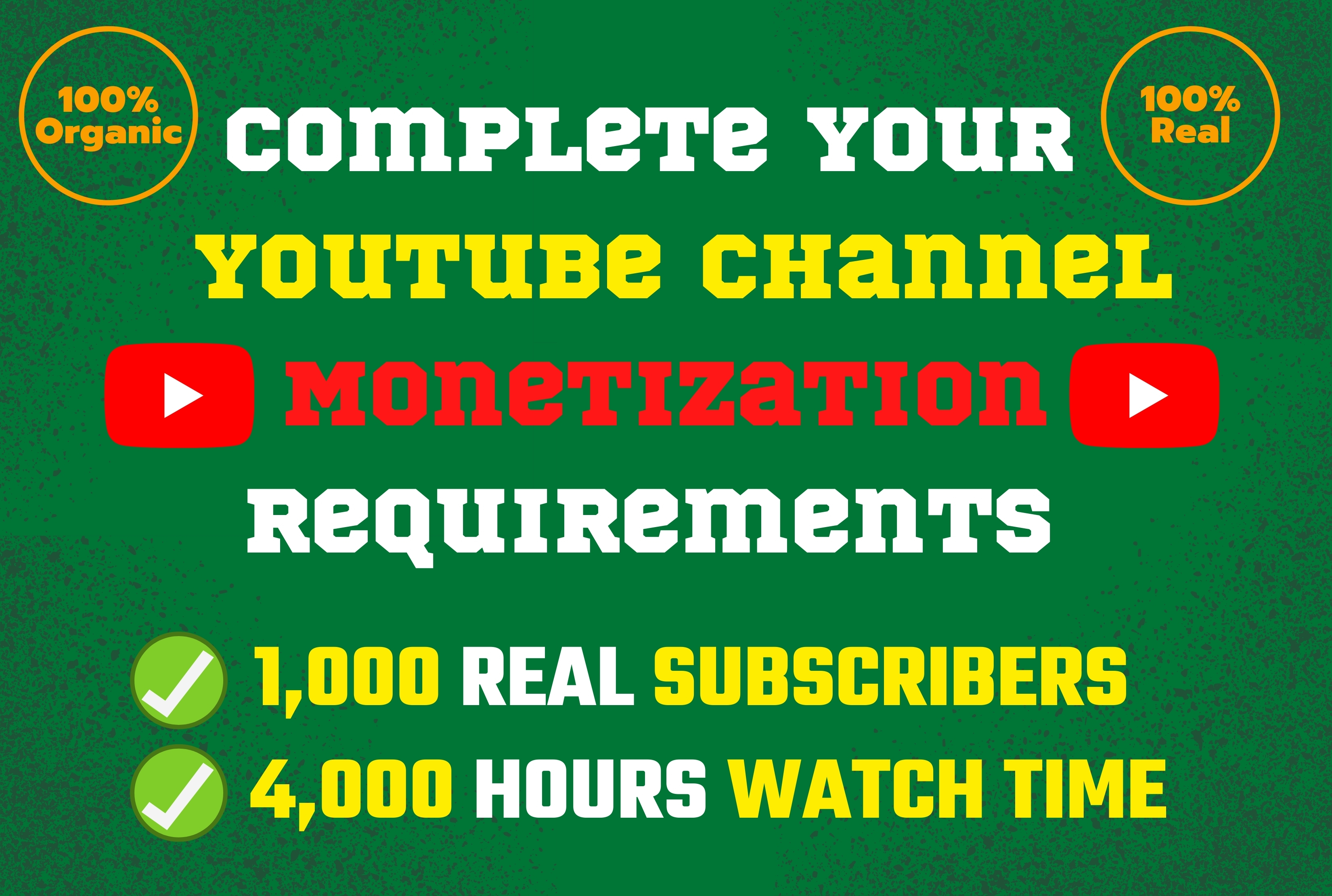 I will do video campaign for complete youtube channel monetization