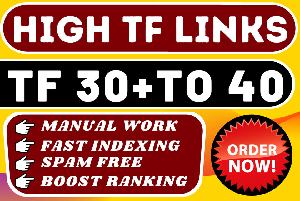make high tf 45 plus 100 permanent homepage SEO backlinks