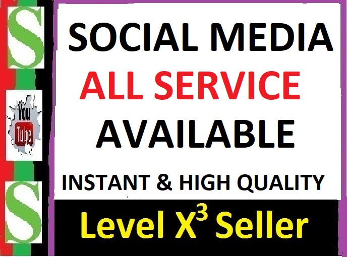 SOCIAL MEDIA ALL SERVICE AVAILABLE FOR CUSTOM ORDER