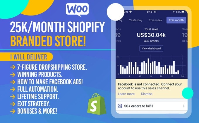 I will design SEO Optimized and Responsive Shopify Dropshipping Store