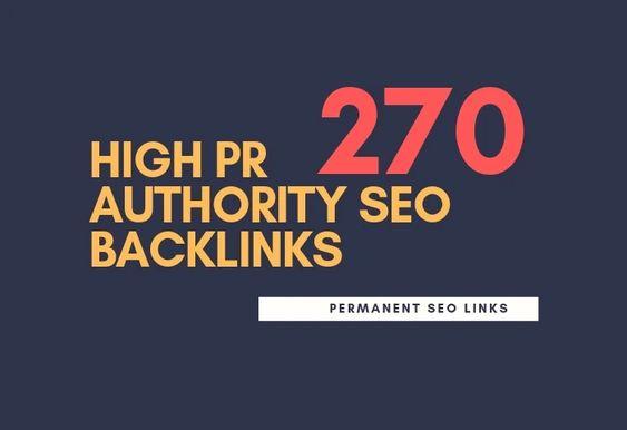do 275 high pr authority SEO backlinks, link building