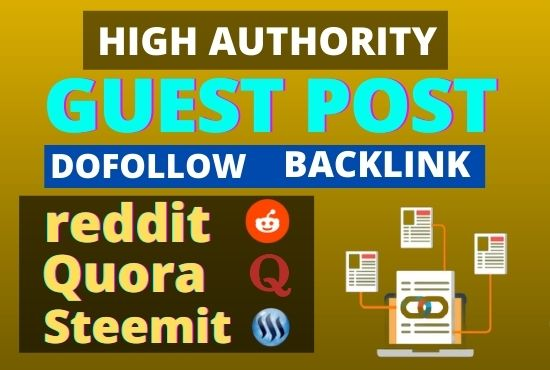 I'll Write and Publish High Quality Guest Post with Natural Backlinks
