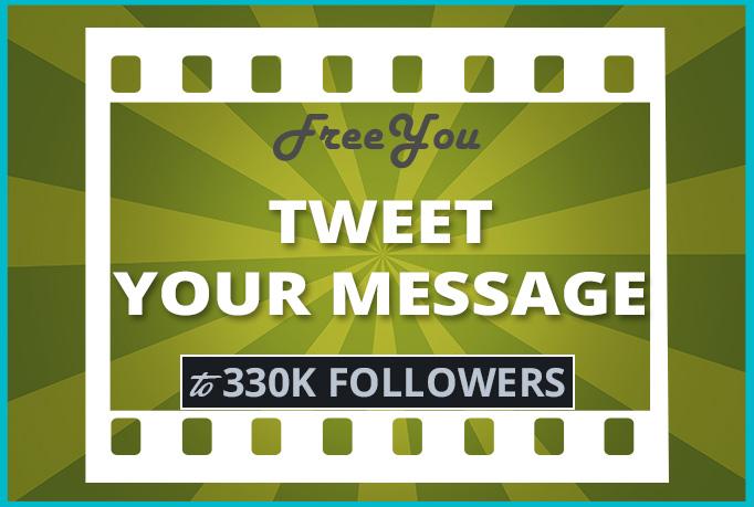I'll tweet to my 320K followers