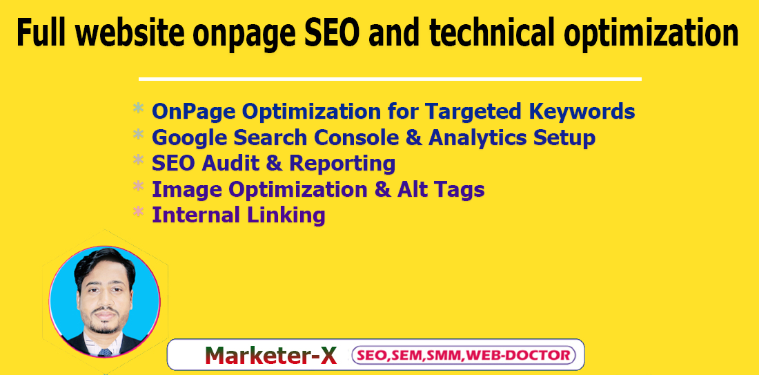 I will do website onpage SEO and technical optimization service of WordPress site
