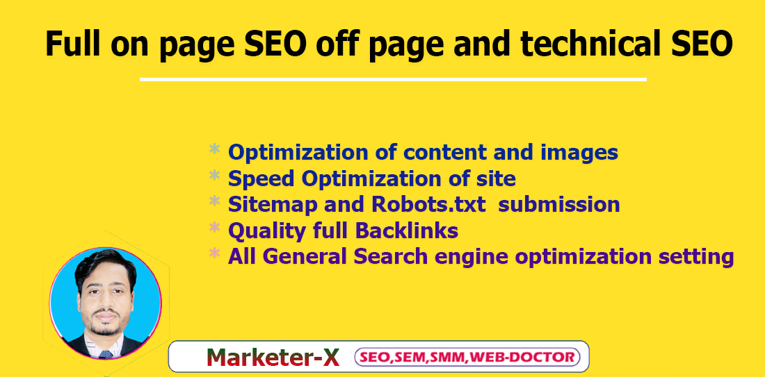 I will do on page SEO off page and technical optimization of wordpress site