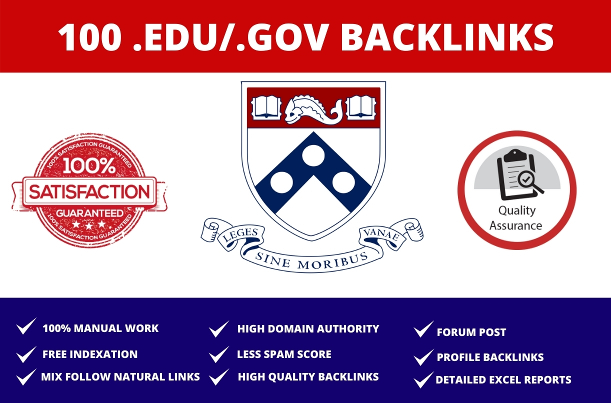 I will do 100 edu and gov manual backlinks to boost rank on google
