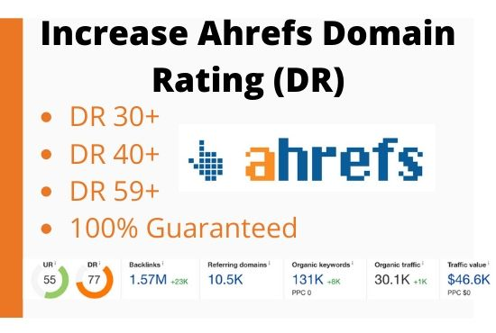 I will increase Domain Rating Ahrefs DR 60+ in 3 Weeks