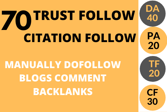 I will do 70 high trust flow citation flow backlink on high da pa