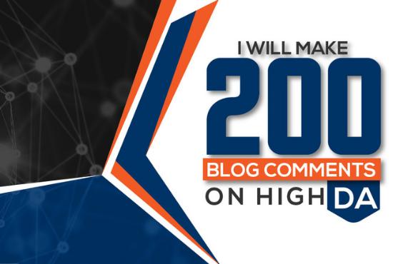 I will 200 unique domain seo blog comments dofollow backlinks