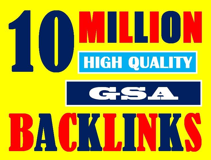 I will make 10 million high authority dofollow GSA link building backlinks