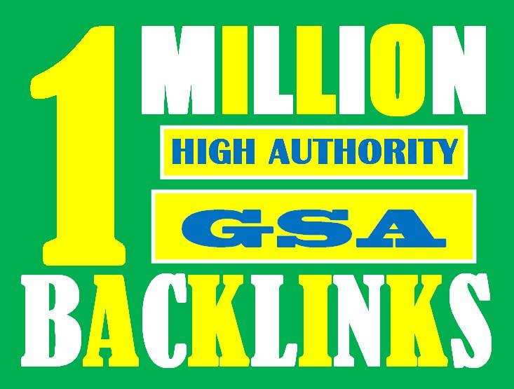 I will build 1 million tier1 high authority dofollow GSA backlinks for google ranking