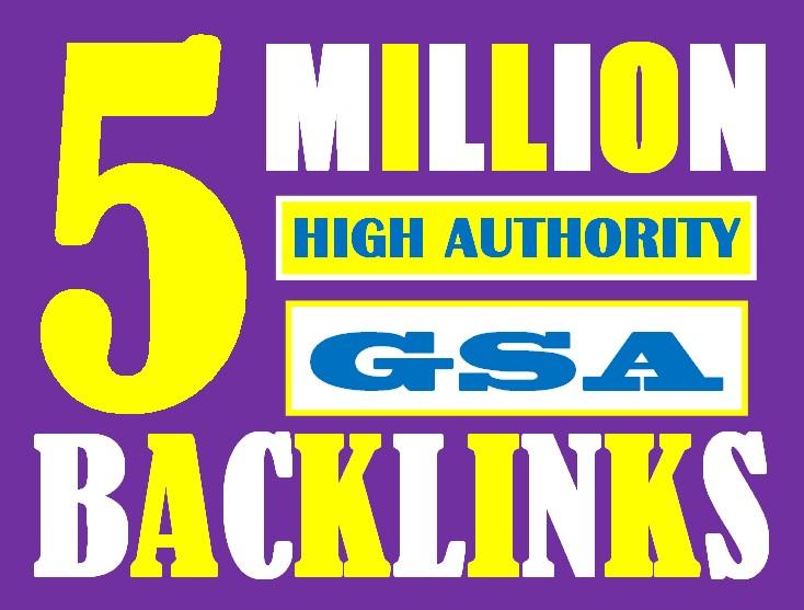 I will do 5 million high authorities dofollow GSA backlinks boost your website