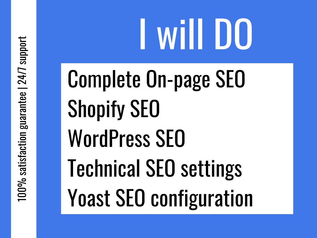 I will do Onpage SEO and technical optimization for WordPress and Shopify websites