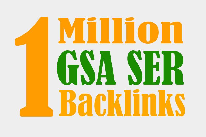 Build 1 Million GSA Ser High Authority BackLinks ultimate SEO 2021