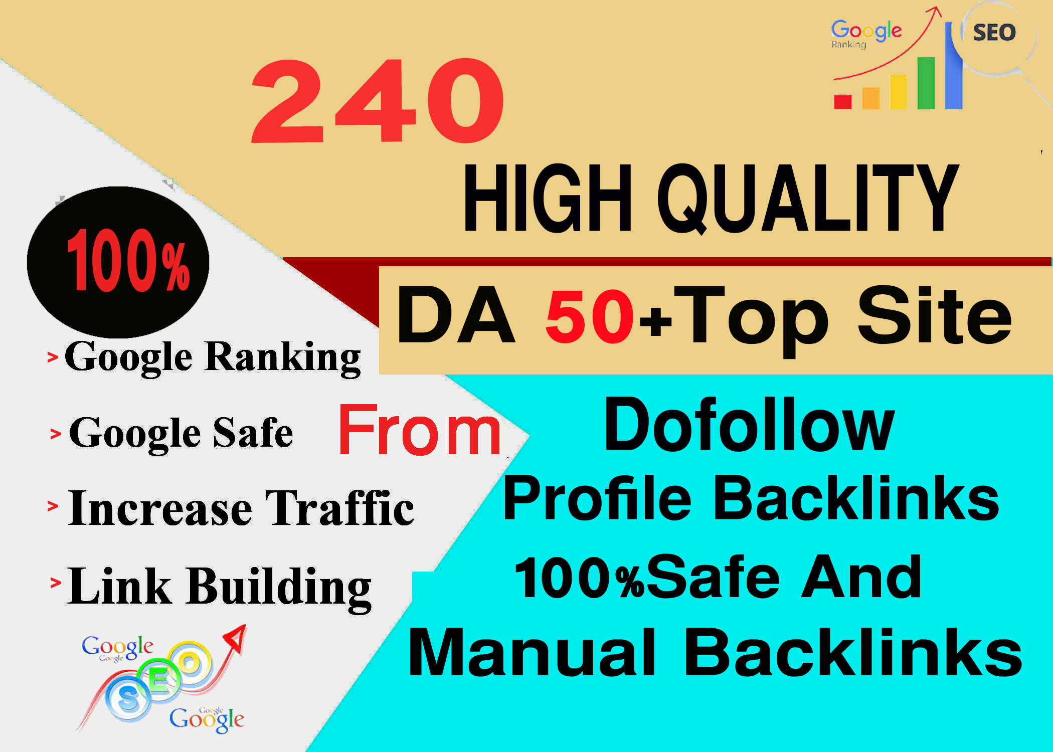 Manually Create 240 High Authority Dofollow Profile Backlinks Fast Delivery