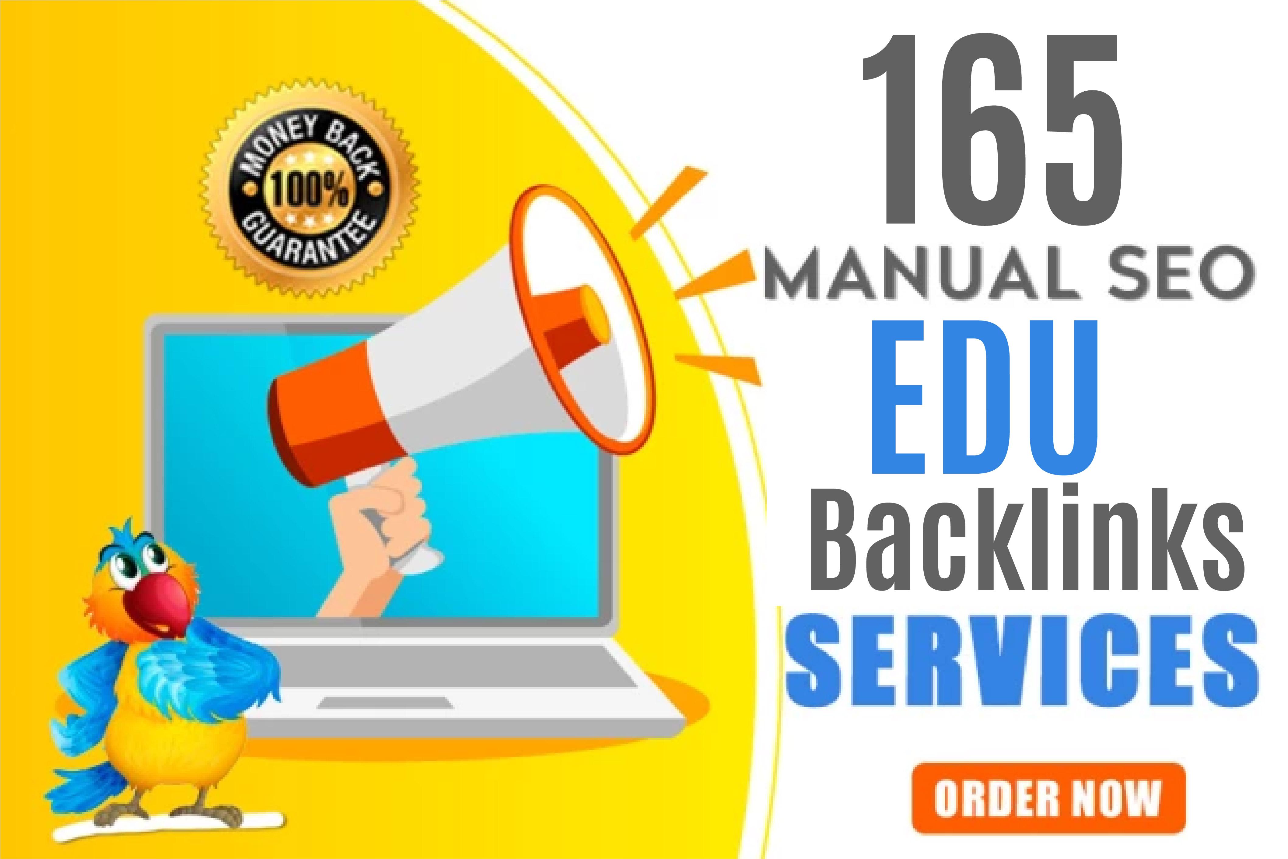 Create 165 EDU Safe High Authority SEO Backlinks For Your Website