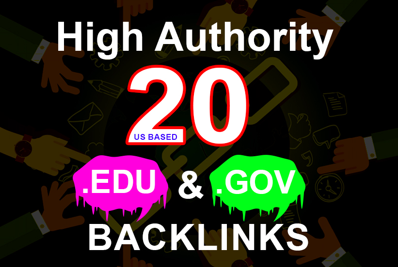 I Will Create Manually 20 EDU.GOV Authority Backlinks US Based Service
