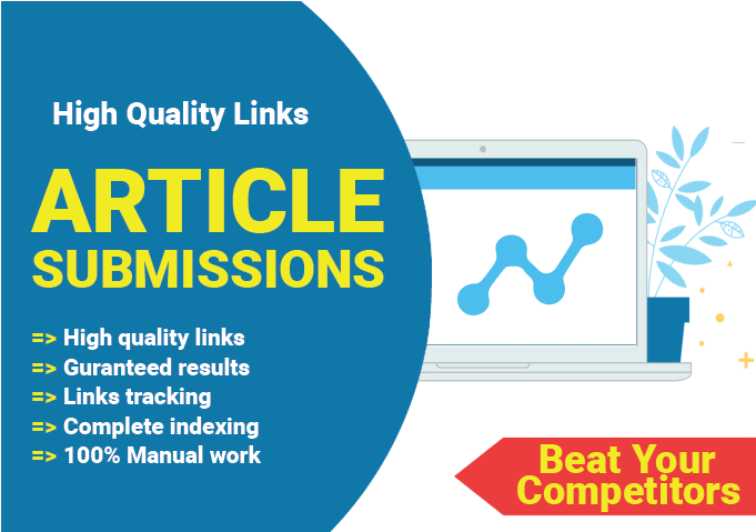 Make high quality seo 20 article submission backlinks