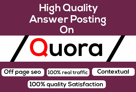 Keyword Related 20 Unique High Quality Quora Answers Posting