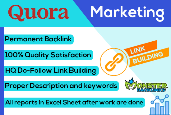 12+ High-Quality Unique Quora Answer get targeted traffic