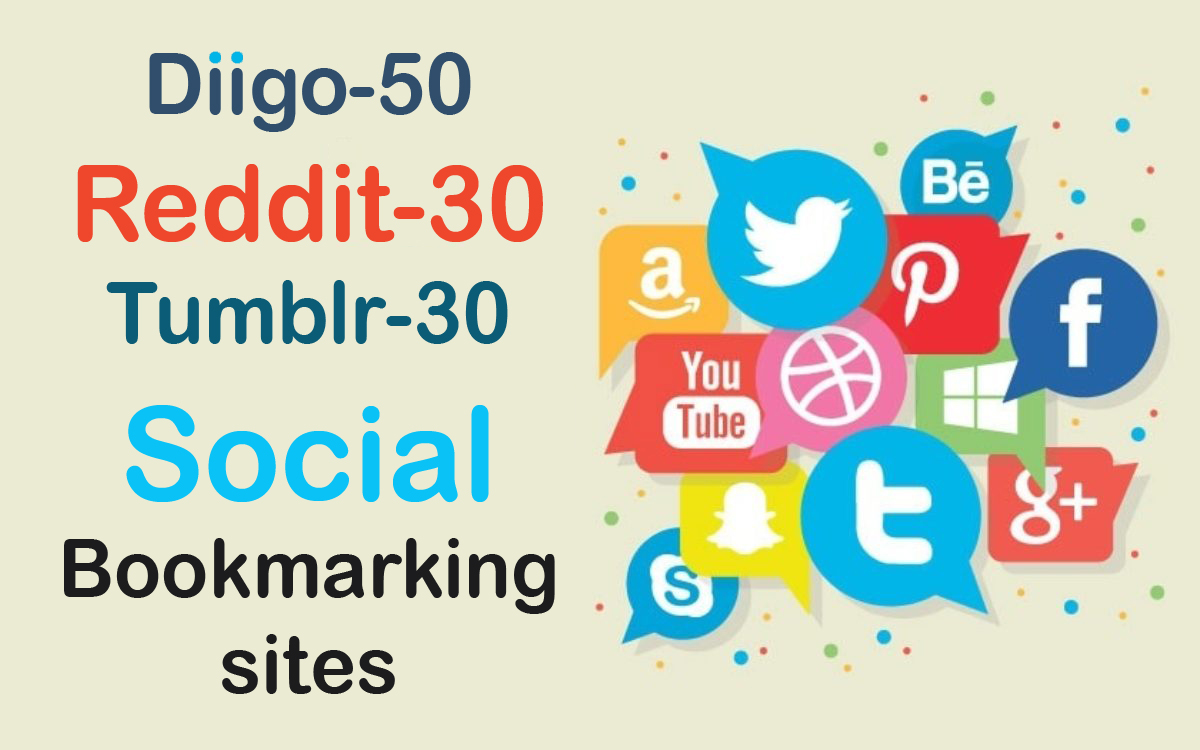 I will do high quality dofollow backlinks guest post social bookmark