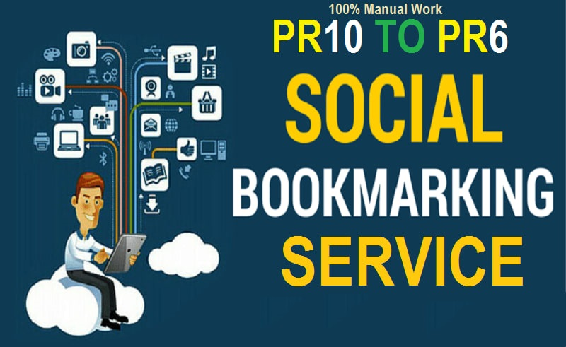 Manually create high quality Bookmarks Social SEO backlinks
