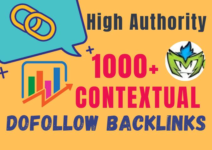 I will create 1000 plus permanent authority contextual dofollow backlinks