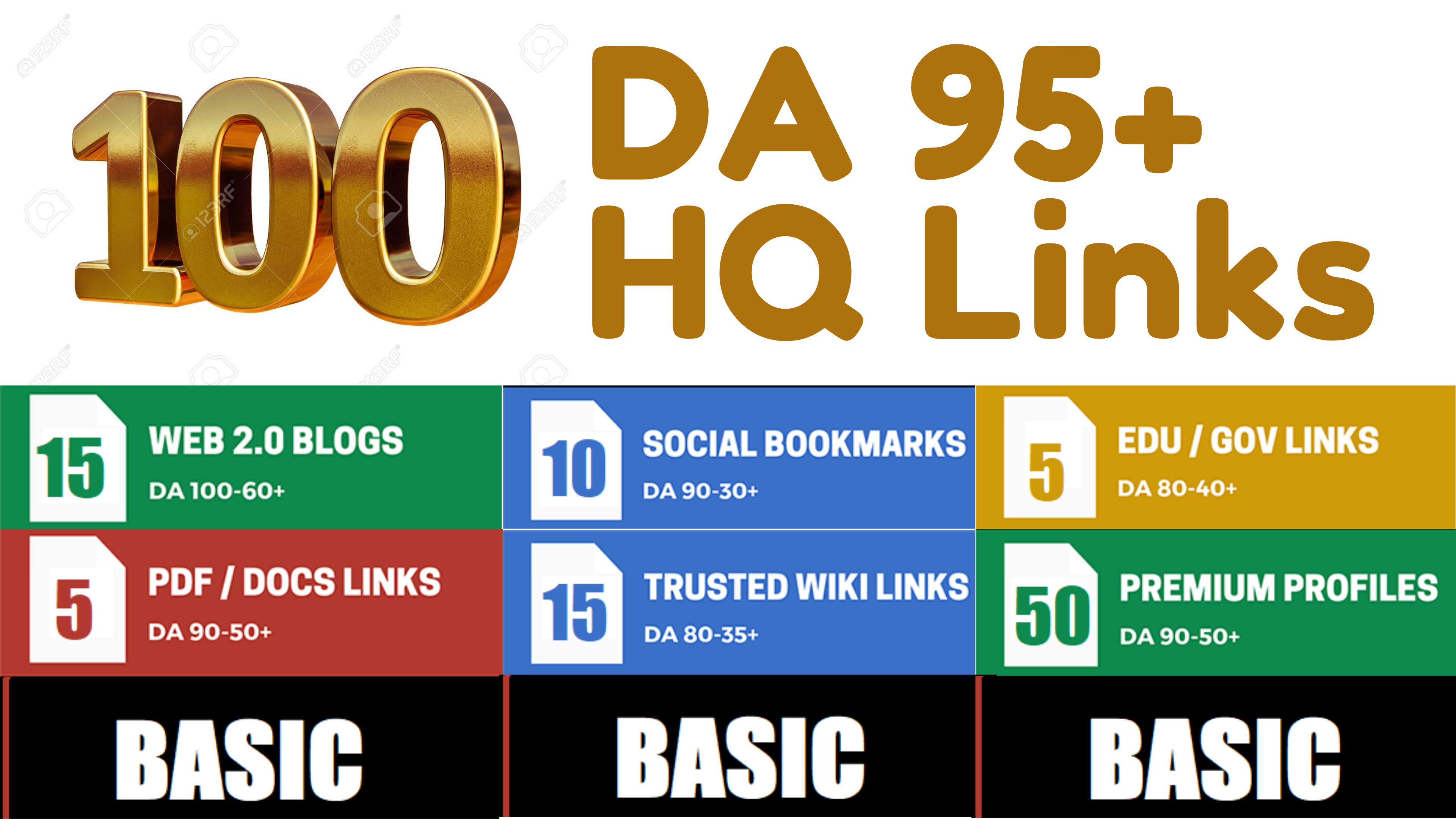 I will 100+ High DA 90+ HQ Links to RANK your website by boosting your web authority for 12