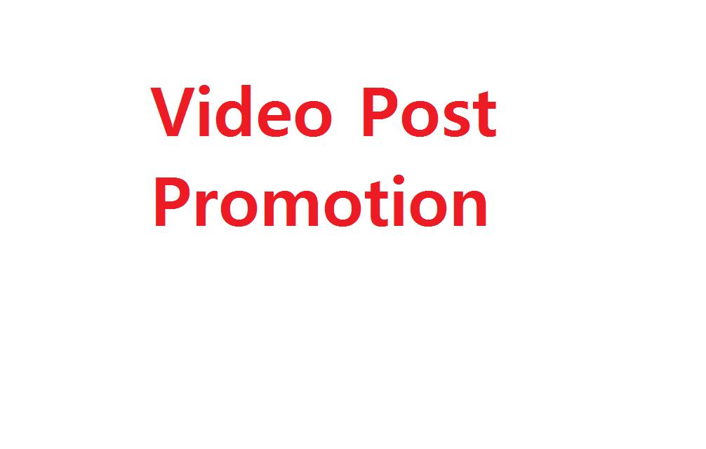 Instant Start Real 50k+ Video post promotion
