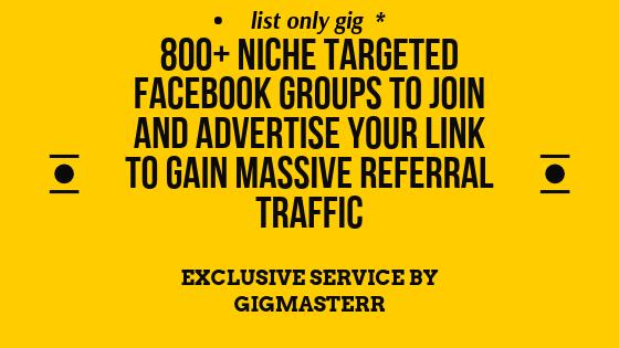 List of 800+ Huge Facebook Groups For Real Traffic