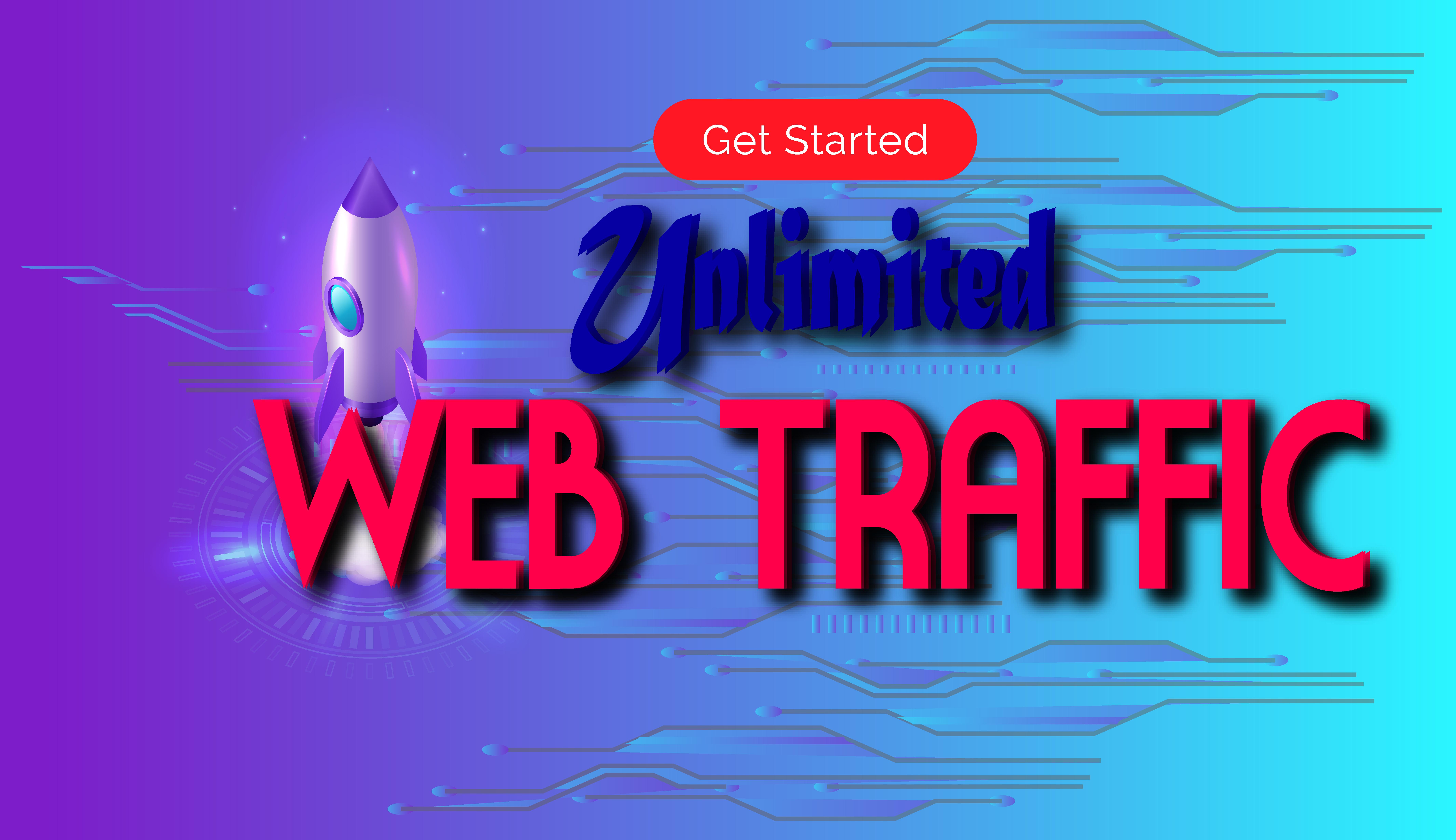 I will drive unlimited genuine web traffic 15 DAYS