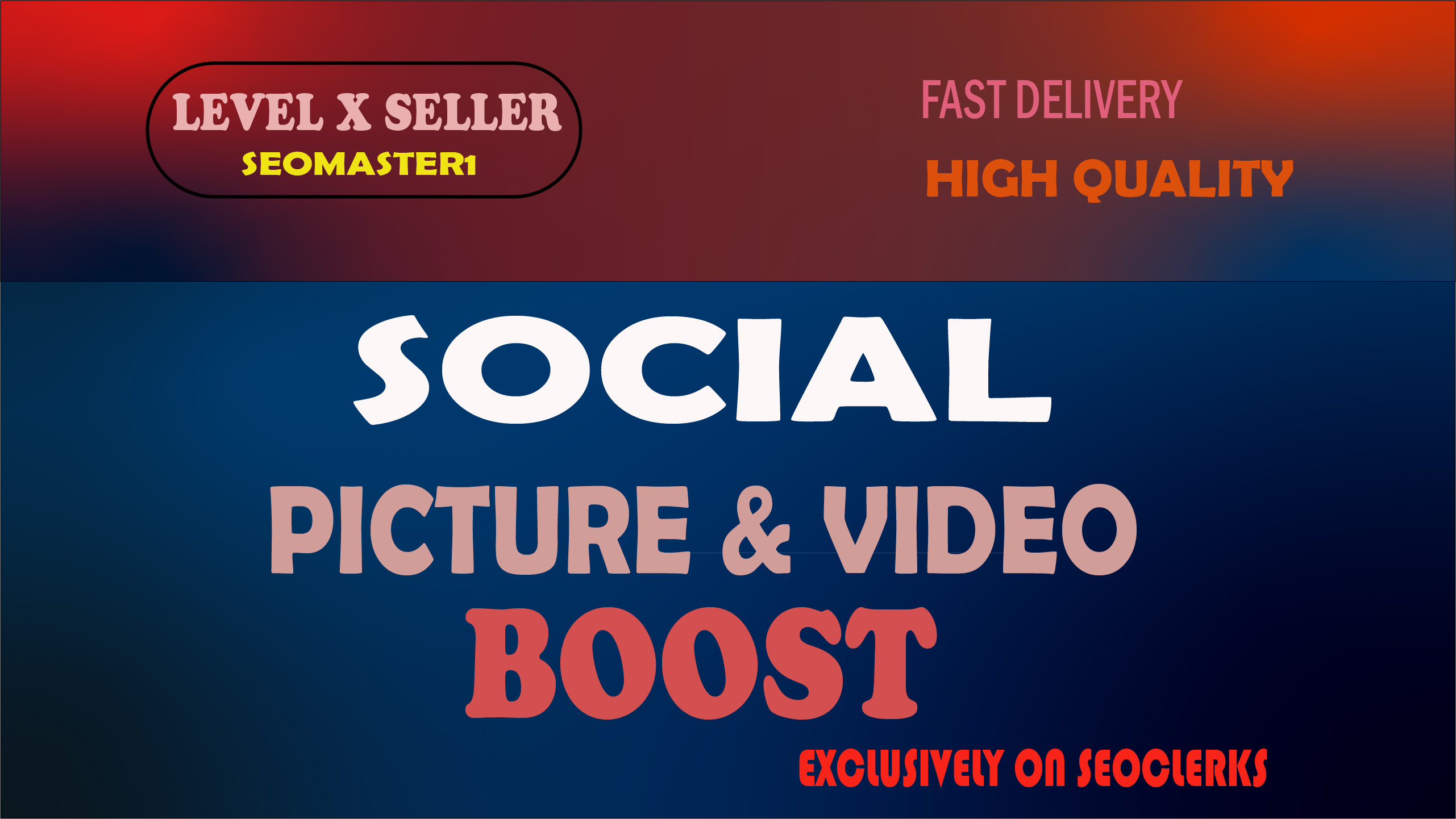HQ social media promotion with real audience