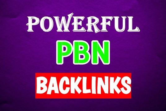 Manually Create 5 PBN backlinks on High DA PA