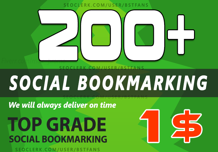 200+ Social Bookmarking Dofollow backlinks