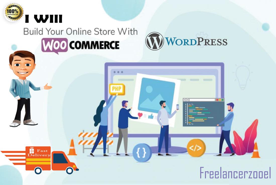 Create a Responsive WordPress Woocommerce Website or Store