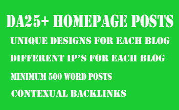 3 x DA25+ Homepage Posts - Permanent Posts