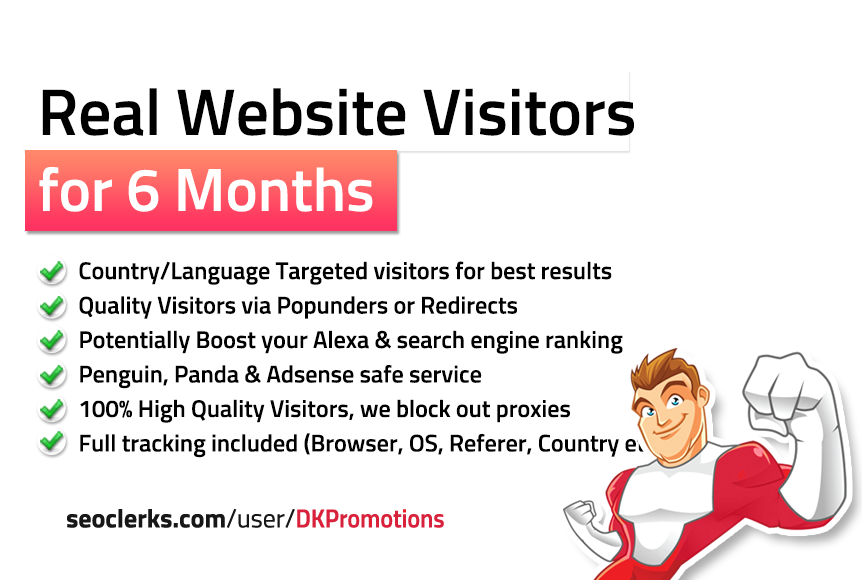 Unlimited TARGETED Real Website TRAFFIC for 6 months